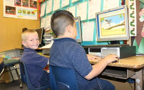 Kindergarten Students at Work at Park View Elementary School