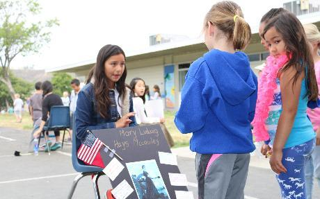 Wax Museum at Madera Elementary School